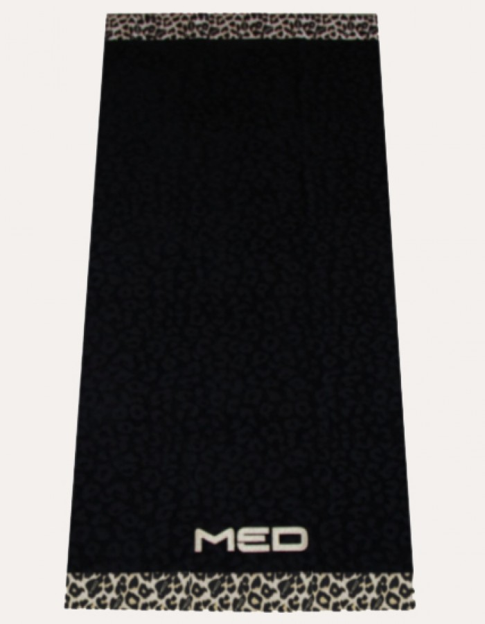 Плажна кърпа BLACK/LEOPARD (70/140)